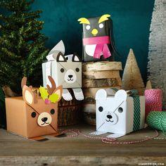 Zvieracie obaly na darčeky pre deti   Originálne DIY nápady