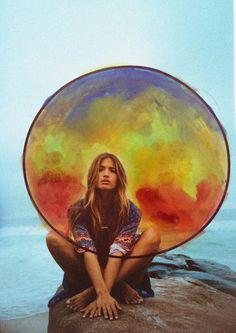 "Rachel Barnes by Dana Trippe (Ph.)    ""New Moon"" Handpainted Photography"