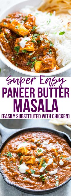 Easy recipe for Indian restaurant style paneer butter masala (paneer makhani curry), made with homemade cottage cheese! This is easy Indian food that can be made in your kitchen. I love serving this with parathas and jeera rice. via @my_foodstory