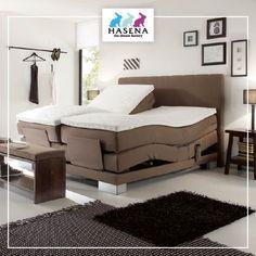 Hasena BoxSpring Bett Classic mit Kopfteil Nizza XL und Füssen Reca Classic, Furniture, Home Decor, Bed, Nice, House, Derby, Decoration Home, Room Decor