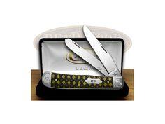 CASE XX Antique Bone Celtic Maze Trapper 1/500 Pocket Knife - CA96184CM   96184CM