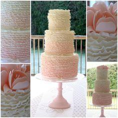 Ombre ruffle cake www.facebook.com/TiersTiaras
