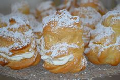 Windbeutel Reginas brandy or cream puffs, a nice recipe from the category baking. Sweets Recipes, Quick Recipes, Cake Recipes, Sweets Photography, Choux Pastry, Arabic Sweets, Almond Cakes, Sweet Cakes, Cookie Desserts