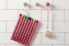 AVEVA Design podkładka Multi prostokąt - różowa - NORD-Home - Podkładki i serwetki