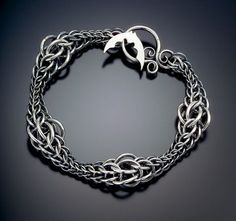 Persian Wave Bracelet by Julia Lowther  (Flying Fox Jewelry); oxidized sterling silver.