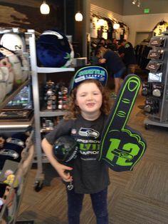Hannah loves her Seahawks!!!