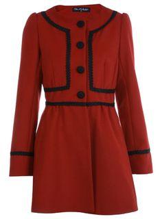Red Braid Trim Coat - Sale & Offers - Miss Selfridge US - StyleSays