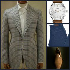 CASUAL FRIDAY(JEAN STYLE): Unknown(Sportcoat)-Habring2(Watch)-Unknown(Jeans)-Carlos Santos(Shoes)