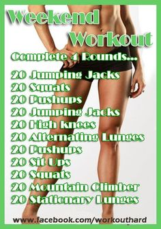 Weekend Workout - No Gym