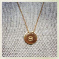 Luna Initial Necklace