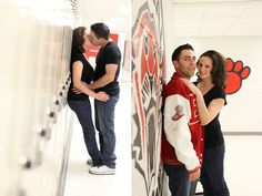 High School Sweethearts: School-Themed Engagement Photos