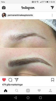Mircoblading Eyebrows, Eyebrows Goals, Permanent Makeup Eyebrows, Eyebrow Makeup, Eyelashes, Beauty Makeup, Makeup Eyes, Sparkly Makeup, Eyebrow Tutorial