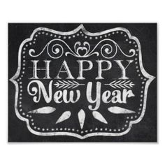 Chalkboard Happy New Year Posters - Dec 1