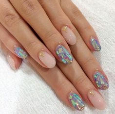 31 Jaw-Dropping Broken-Glass Nail Designs | StayGlam #ootd #nailart - http://urbanangelza.com/2016/01/10/31-jaw-dropping-broken-glass-nail-designs-stayglam-ootd-nailart-2/?Urban+Angels  http://www.urbanangelza.com