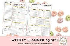 Islamic WEEKLY PLANNER by Kecilmamil A5 Size by Kecilmamil