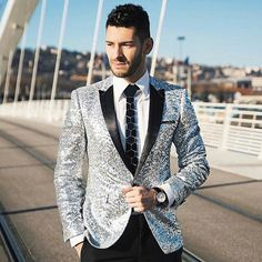 Men Sequin Blazer http://www.99wtf.net/young-style/urban-style/mens-ideas-dress-casually-fashion-2016/