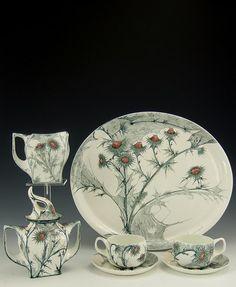 Rozenburg, Den Haag, Samuel Schellink, 1900: a rare eggshell porcelain tête-à-tête service.