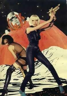 Space opera is a subgenre of speculative fiction or science fiction that emphasizes romantic, often melodramatic adventure, set mainly or entirely in space, generally involving conflict between. Arte Sci Fi, Sci Fi Art, Science Fiction Art, Pulp Fiction, V Model, Space Girl, Space Age, Space Fashion, Retro Mode