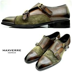 We're featuring a beautiful pair of Max Verre double monk-strapped loafers, with brunished brown leather and olive suede accents. Stop by Flip today to try them on!<br />Featured items: Max Verre shoes (10) $498 - #nashville #hip2flip #consignment #menswear #designerconsignment #maxverre