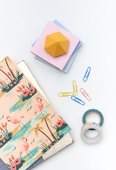 Add some color to your desk with these diy diamond plaster paperweights!