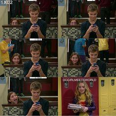 "#GirlMeetsWorld 1x02 ""Girl Meets Boy"" - Lucas, Maya and Riley"