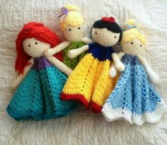 Crochet Disney Princess Loveys