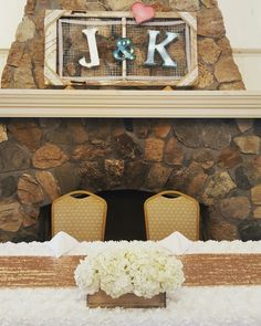 Danielle Moore Events @ The NSB Clubhouse in Rocky Point, NY   sequin runner, rosette table cloth, hydrangea in wood crate and vintage initials sign. Sweetheart table at wedding reception.