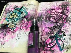 Mixed Media Art Journal Spread- Be You