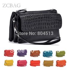 2017 New Designer Female Real Genuine Leather Women Wallet Cosmetic Mobile Phone Ladies Clutch Bag Coin Holder Purse Credit Card