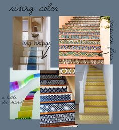 stencils from royal design studio; i'd like to do this on my stairs!
