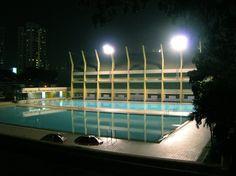 """Saatchi Online Artist: thomas holzweiler; Color, 2005, Photography """"pool at night"""""""