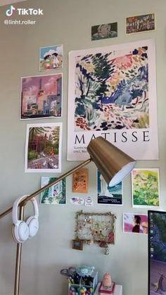 Room Ideas Bedroom, Bedroom Wall, Bedroom Decor, Study Room Decor, Bedroom Posters, Dream Rooms, Dream Bedroom, Pastel Room, Cute Room Ideas