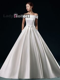 sale white simple wedding dresses