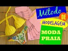Biquíni Tropical - Modelagem + Método de Modelagem Moda Praia - YouTube Textiles, Pattern Cutting, Bikini Workout, Diy Dress, Dress Making, Videos, Sewing, Youtube, Bikinis