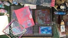 Gelli (R) Plate Warm Up Session by Sam Crowe This is a warm up session on the Gelli Plate and then some grungy Prints on Tags/ card etc Gelli Plate Printing making background prints