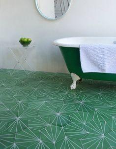 retro vert gazon - Carrelage Retro Vert