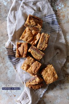 Who'd like one of these Toffee and Rolo Blondie Bars by @Bakers Royale | Naomi? See how they're made:  http://www.bhg.com/blogs/delish-dish/2013/09/03/toffee-and-rolo-blondie-bars/