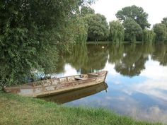 Lonely boat Garden Bridge, Hungary, Lonely, Boat, Outdoor Structures, Park, Beautiful, Etsy, Serenity