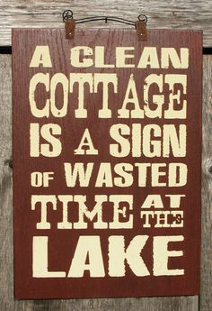 Cottage Sign by ZietlowsCustomSigns on Etsy. $25.00 USD, via Etsy.-Cute