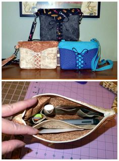 PDF Pattern to make this purse in two different sizes. The smaller purse can be made into a clutch, wristlet, or crossbody bag. The larger would be appropriate for a crossbody bag or a shoulder bag. I give all instructions and pattern pieces (as well as measurements) to make any of the above types of bag. The strap is adjustable, but of course that is optional if you prefer to have it at a permanent desired length. Instructions for this as well.
