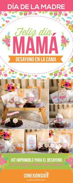 A mamá le encantará despertarse con una sorpresa así el Día de la Madre, un desayuno en la cama llena de color y flores primaverales.