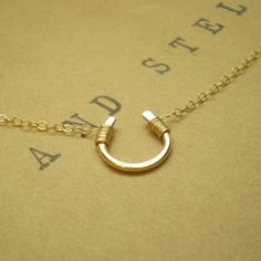 Tiny Luck Necklace - Tiny Hand Formed Gold Filled Horseshoe On Delicate Gold Filled Chain