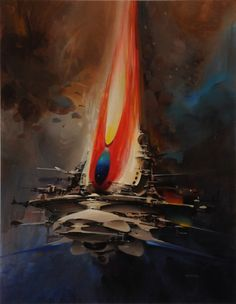 John Berkey - Feather Ship br /18.50 x 24 Mat $8800.00