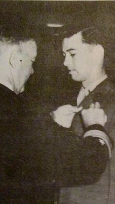 D'Andrea is awarded the Distinguished Flying Cross for a combat mission he flew to protect the survivors of a downed CH-46 helicopter near Khe Sanh. photo provided