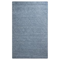 Rizzy Home Technique Collection Hand-Loomed 100% Wool Area Rug - Blue (8' x 10') : Target