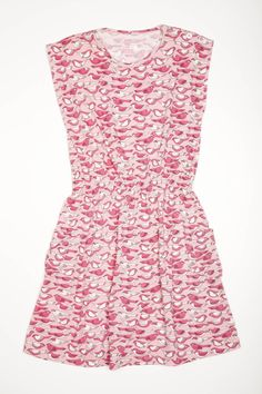 Awesome knit dress updated with shoulder buttons and side pockets.