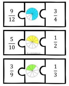 This would be soooo much better if the author had left the pieces blank so that the kids could fill them in, and used a variety of models for fractions....