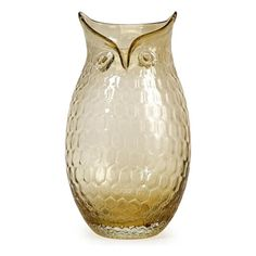 Large Ambra Glass Owl Vase   Nebraska Furniture Mart