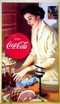 . Coca Cola Poster, Coca Cola Drink, Cola Drinks, Coca Cola Ad, Always Coca Cola, World Of Coca Cola, Coca Cola Bottles, Vintage Advertising Posters, Vintage Advertisements