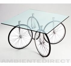 I chose this image because it is such a cool idea. I love the bicycle wheels underneath the glass table. It is easy to roll back and fourth from anywhere in a home. Functional, Practical, yet Fashionable!